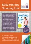 KELLY HOLMES 'RUNNING LIFE' 5TH SEPTEMBER 2019 AT ST. DUNSTAN'S CHURCH 7.30P.M.