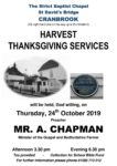 The Strict Baptist Chapel - Harvest Thanksgiving Services