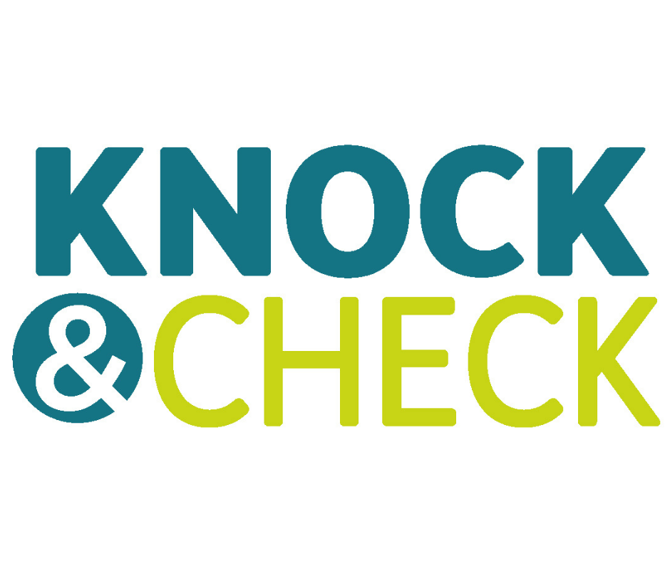 Knock and Check logo